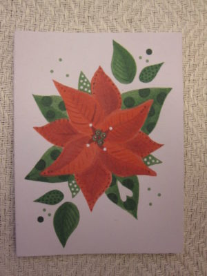 Litet kort, Julblomma-799