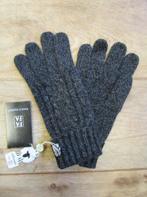 Ylva Fingervante, Mörkgrå-0