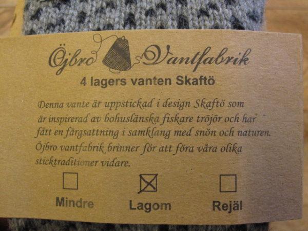 Skaftö Grå Fingervante-2420