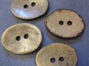 Kokosknapp 38 x 29 mm-2869