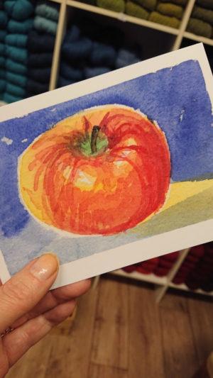 Julkortet Äpple-0